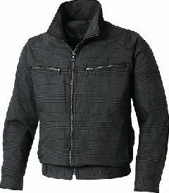 グレンチェック長袖ブルゾン KU93600(空調風神服)