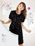 en joie(アンジョア)オーバーブラウス 26300-24(黒)