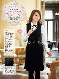 en joie(アンジョア)ベスト 11620-2 (黒)送料無料