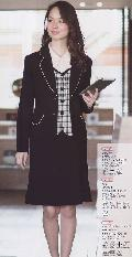 en joie(アンジョア)マーメイドスカート(55丈) 51642-2 黒)送料無料