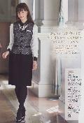 """""""NEW""""en joie(アンジョア) ベスト11680-2(黒)送料無料"""