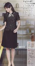en joie(アンジョア)後ろゴムフレアースカート(55�丈)51515-2(黒)送料無料