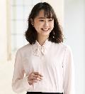 "2018NEW""en joie(アンジョア)長袖ブラウス 01210"