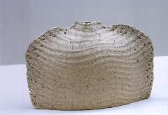 むしくい砂紋扁壺