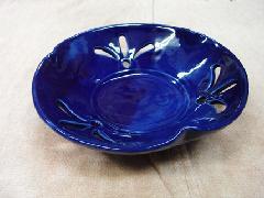 透かし彫り瑠璃鉢