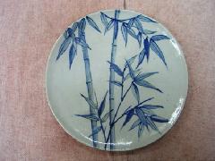 染付竹林皿