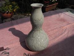 瓢箪浮彫花器