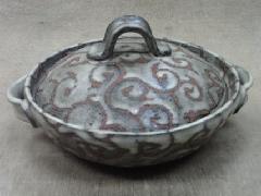 唐草文土鍋