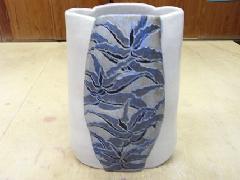 アロエ図花瓶