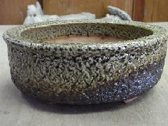 灰釉植木鉢