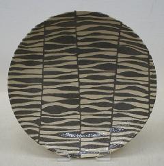 波並び柄大皿