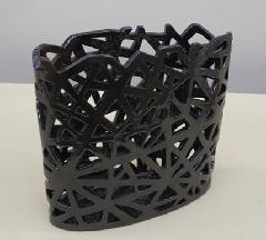 透彫楕円籠