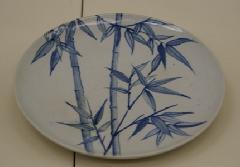 染付竹林絵皿