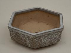 白釉植木鉢