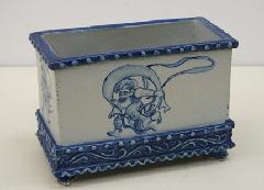 風神雷神図長角鉢
