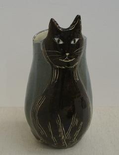 黒ねこ花器