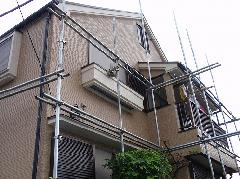 埼玉県での3階建て戸建住宅の足場工事