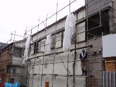 埼玉県での2階建てアパートの足場好事例