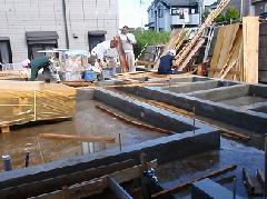 東京都で戸建住宅の基礎工事�C
