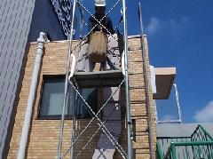 東京都三鷹での足場工事です。