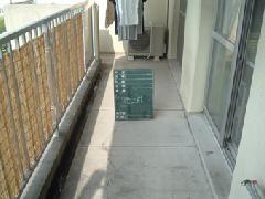 県営住宅の雨漏り修理