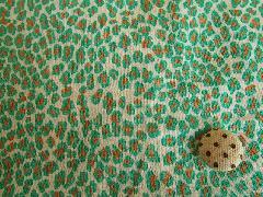豹柄風プリント オフxグリーン M5884