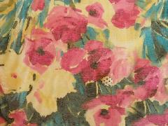 ネップ花柄プリント ピンク M6926