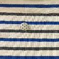 20/2ボーダー天竺 チャコール×ブルー×キナリ M9961