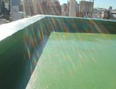 ビル屋上の防水塗装例