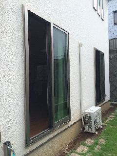 横浜市 窓シャッター 窓面格子取り付け工事