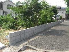 ブロック塀 新設工事