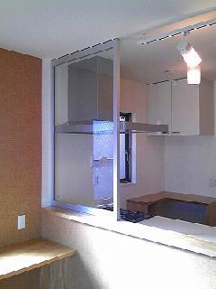 キッチンコンロ前 フロントスクリーンガラス