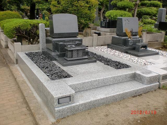 八柱霊園 新規墓地 6�u 洋型 インド産御影石