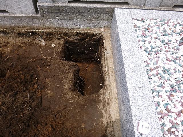 八柱霊園 新規墓所 基礎工事