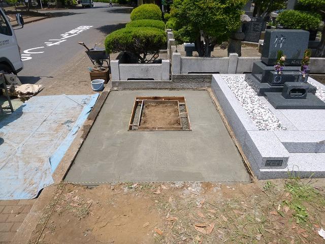 基礎工事 墓石 墓所 八柱霊園
