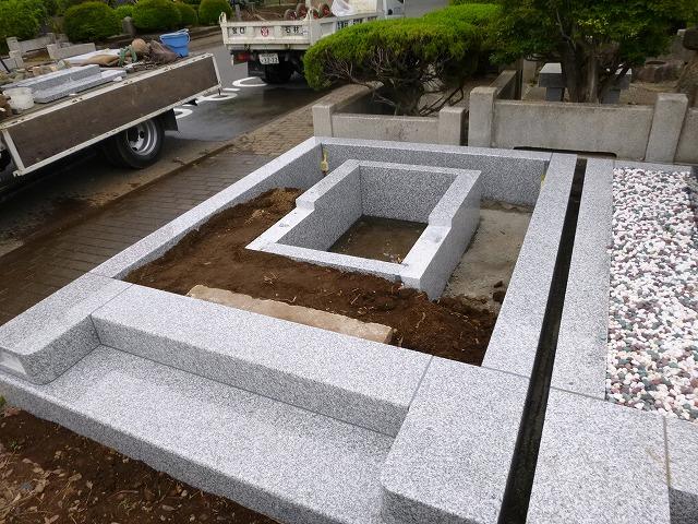 墓石 墓所 工事