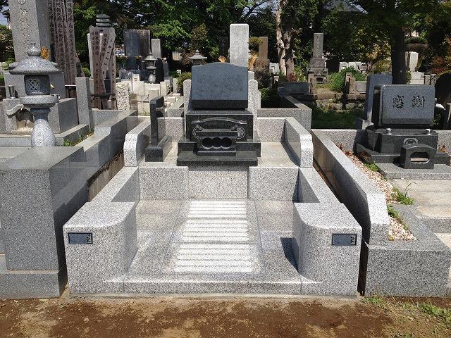 八柱霊園 2世帯 墓所 墓石