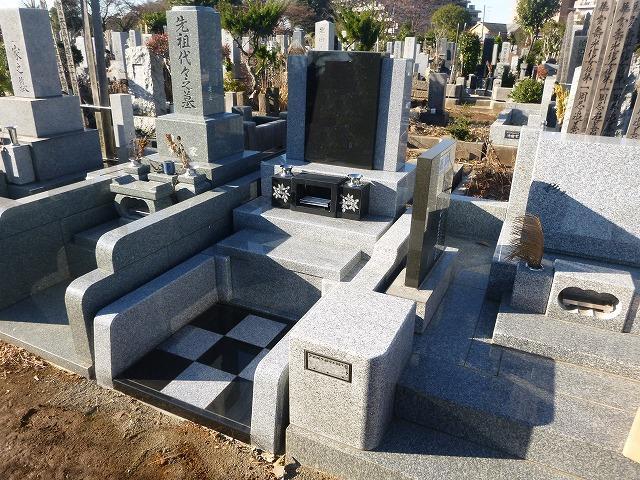 八柱霊園 デザイン墓 石碑 2�u インド産御影石