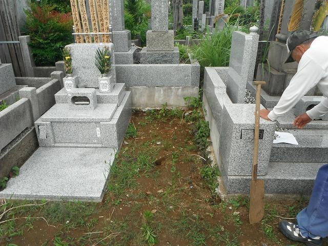 八柱霊園 基礎工事 2�u 墓所 墓石
