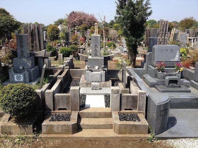八柱霊園 土間コンクリート工事 草止