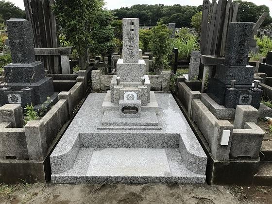 和型墓地 外柵リフォーム 4�u