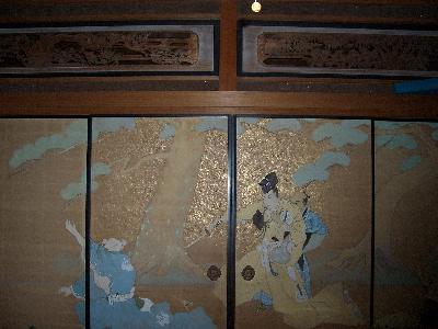 改修する前の襖絵「刃傷 松の廊下」