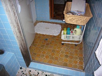 既設の洗面の床