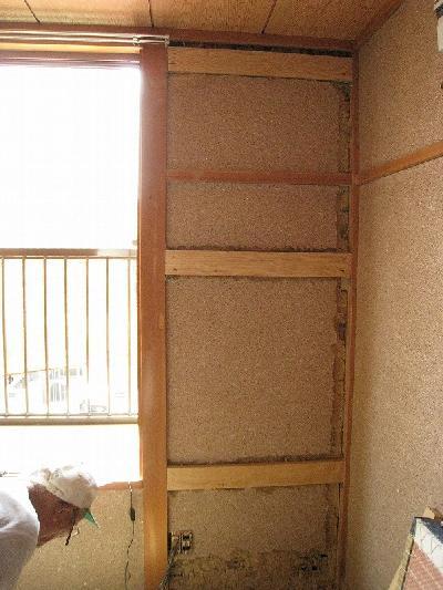 耐震補強壁パネルの下地