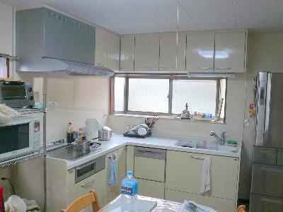 完成したキッチン
