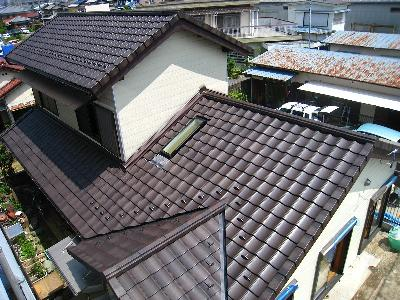 屋根は完了