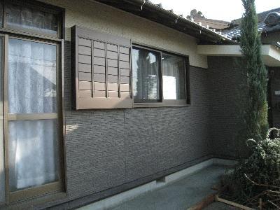 窓を小さくして、壁を増やし