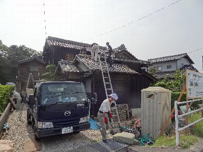 屋根をはがして