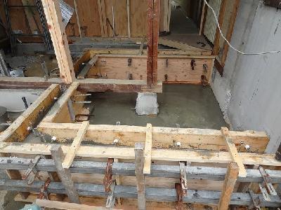 今のお風呂とは違う場所で新しいお風呂を造ります