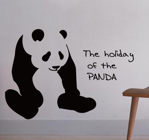 【ステッカー】  パンダの休日